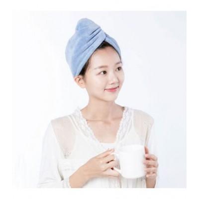 Тюрбан для сушки волос  Xiaomi SIM FUN Slim and Quick Dry Hair Cap Blue