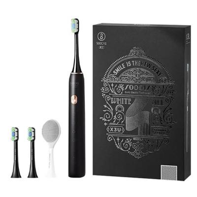 ⇨ Зубные щетки и ирригаторы | Электрическая зубная щетка Soocas X3U Limited Edition Facial Black в интернет-магазине електроники ▻ ONETECHNO ◅