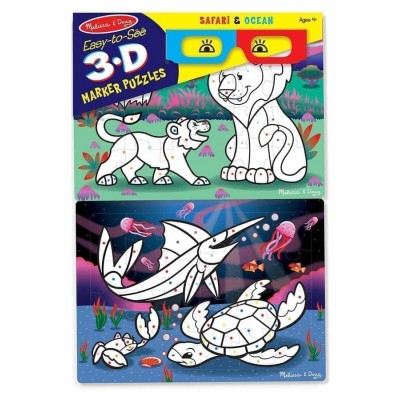 3D пазли-розмальовки