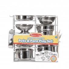 Делюкс-набор посуды с нержавеющей стали Melissa&Doug (MD30340)