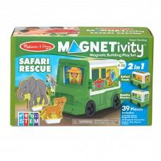 """Ігровий магнітний набір """"Сафарі-рятувальна машина"""" Melissa&Doug (MD30666)"""