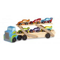 Дерев'яний мегатягач автомобілів Melissa&Doug (MD12759)