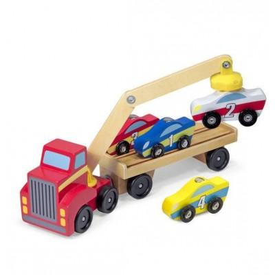 Магнітний дерев'яний автонавантажувач Melissa&Doug (MD19390)