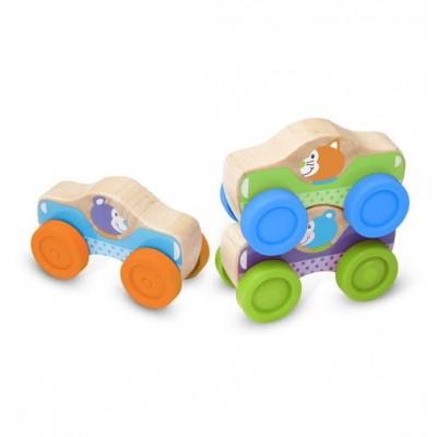 Набір дерев'яних машинок / пірамідок для малюків Melissa&Doug (MD40129)