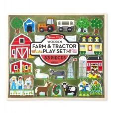 """Дерев'яний ігровий набір """"Ферма і трактор"""" Melissa&Doug (MD14800)"""