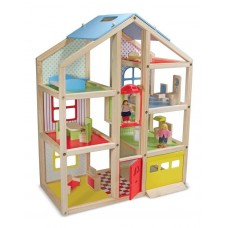 Дерев'яний ляльковий будиночок з підйомником і меблями Melissa&Doug (MD2462)