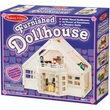 Мебльований Ляльковий Дерев'яний Будиночок Melissa&Doug  (MD795)