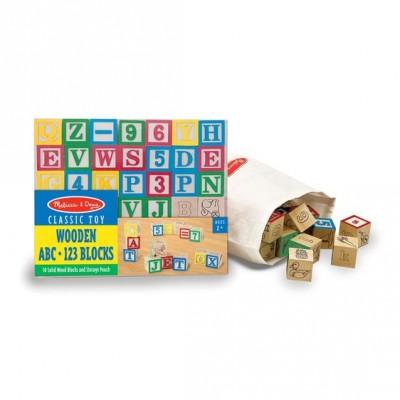 Дерев'яна азбука / цифри на кубиках Melissa&Doug (MD1900)
