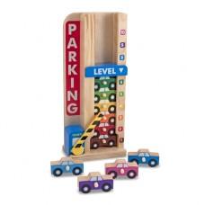 """Ігровий дерев'яний набір """"Паркування та машинки""""  Melissa&Doug (MD15182)"""