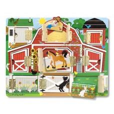 """Дерев'яна дошка з віконцями """"Ферма"""" Melissa&Doug (MD14592)"""