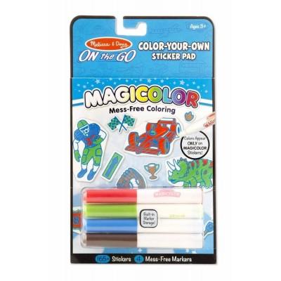Магічні наліпки-розмальовки - блакитні Melissa&Doug (MD9130)