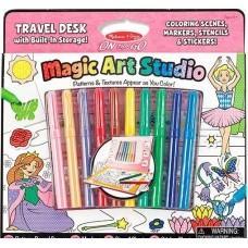 """Чарівний набір для дівчаток """"Розмальовка, наліпка, трафарет"""" Melissa&Doug (MD5500)"""