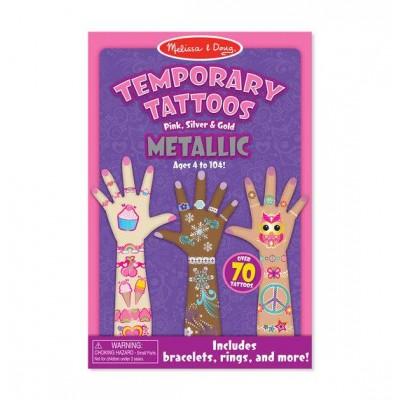 Мої перші тимчасові татуювання металік, 130 штук Melissa&Doug (MD2948)