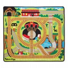 Игровой коврик Железная дорога с паровозиками Melissa&Doug (MD19554)