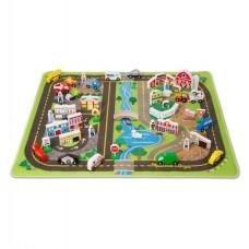 Игровой коврик МЕГА-набор Дорожный коврик с деревянными ирушками Melissa&Doug (MD5195)