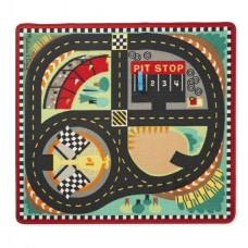 Игровий коврик Гоночная трасса с машинками Melissa&Doug (MD19401)