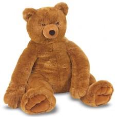 Великий плюшевий ведмедик, коричневий, 76 см х 69 см Melissa&Doug  (MD12138)