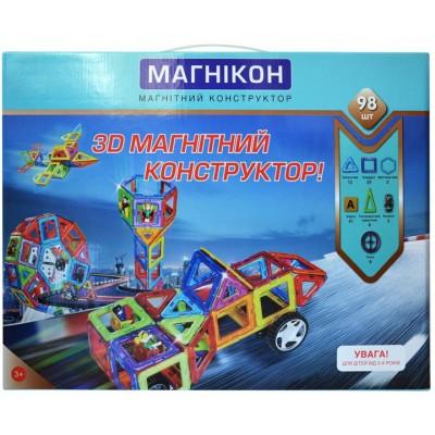 ⇨ Детские конструкторы   3D магнитный конструктор МАГНІКОН, 98 дет в интернет-магазине електроники ▻ ONETECHNO ◅