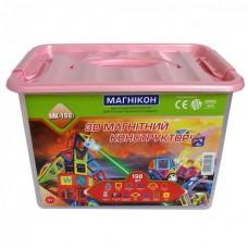 3D магнитный конструктор МАГНІКОН, 198 дет. Plastic box