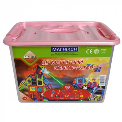 ⇨ Детские конструкторы   3D магнитный конструктор МАГНІКОН, 198 дет. Plastic box в интернет-магазине електроники ▻ ONETECHNO ◅