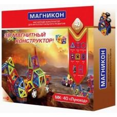 3D магнитный конструктор МАГНІКОН, 40 дет.