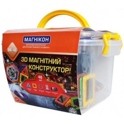 ⇨ Детские конструкторы | 3D магнитный конструктор МАГНІКОН, 48 дет. Plastic box в интернет-магазине електроники ▻ ONETECHNO ◅