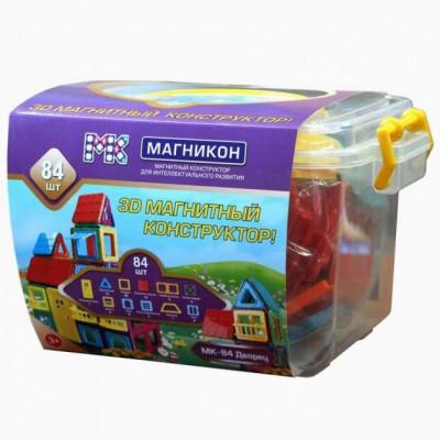 ⇨ Детские конструкторы   3D магнитный конструктор МАГНІКОН, 84 дет. Plastic box в интернет-магазине електроники ▻ ONETECHNO ◅