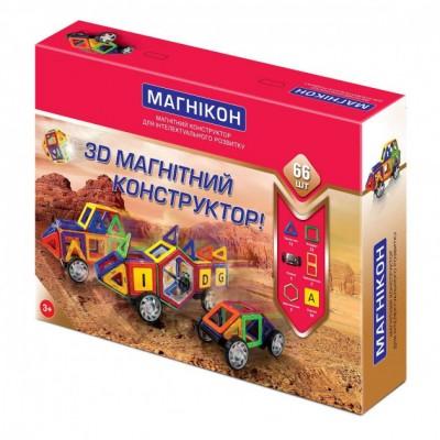 ⇨ Детские конструкторы   3D магнитный конструктор МАГНІКОН, 66 дет. в интернет-магазине електроники ▻ ONETECHNO ◅
