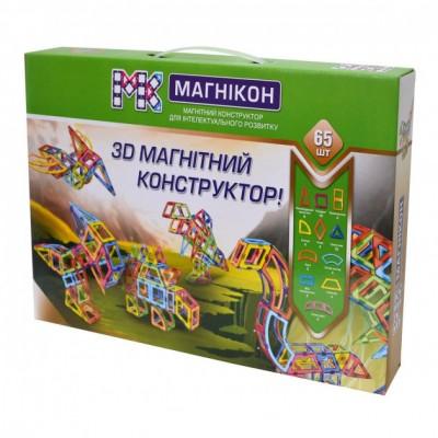 ⇨ Детские конструкторы | 3D магнитный конструктор МАГНІКОН, 65 дет. DINO в интернет-магазине електроники ▻ ONETECHNO ◅