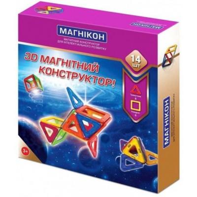 ⇨ Детские конструкторы | 3D магнитный конструктор МАГНІКОН, 14 дет. в интернет-магазине електроники ▻ ONETECHNO ◅