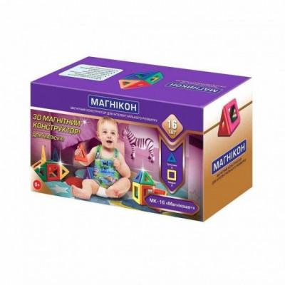 ⇨ Детские конструкторы | 3D магнитный конструктор МАГНІКОН, 16 дет. МАГНІКОША в интернет-магазине електроники ▻ ONETECHNO ◅