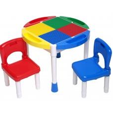Игровой стол для ЛЕГО 14OT (стол и два стулья)