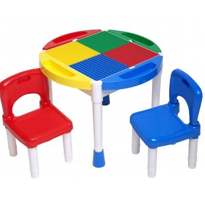 ⇨ Столы для творчества   Игровой стол для ЛЕГО 14OT (стол и два стулья) в интернет-магазине електроники ▻ ONETECHNO ◅
